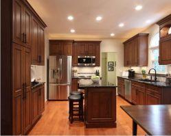 Maple Vidraças Café sólidos de madeira armário de cozinha