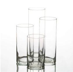 Rond en verre transparent Bougeoir Vase en verre