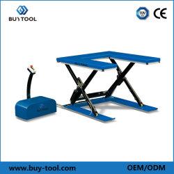 Низкий профиль U форма электрического гидравлический подъемный стол ножничного типа/подъемного стола
