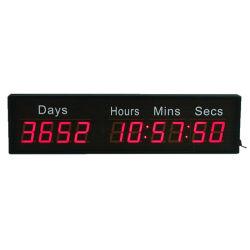 """2.3"""" 10 dígitos montado na parede 10000 Dias levou os eventos Digital Temporizador de contagem decrescente"""