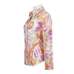 デジタルプリントのフォーマルリネン衣類ビジネスメンズドレスコットンシャツ