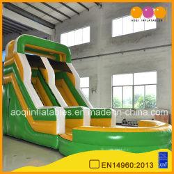 انزلاق الماء القابل للنفخ في الهواء الطلق مع حمام سباحة للأطفال (AQ1024)