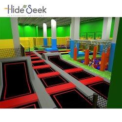 2018 sehr gro?es Indoor Children Trampoline Park für Einkaufszentrum