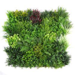 1X1m 훈장을%s 철 메시 역행을%s 가진 녹색 인공적인 플랜트 벽