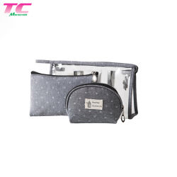 3 séries de transparent en PVC étanche Sac cosmétique Articles de toilette de voyage des sacs de stockage
