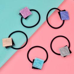 Semicírculo Acetatos de alta calidad de la geometría de acrílico cuerdas elásticas bandas elásticas Secador de cabello Ponytail titulares