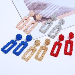Модные металлические красочной площади простой Earring аксессуары
