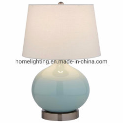 Jlt-4085 Home Decorative Ceramic Porcelain Table Desk Lamp mit Linen Shade