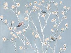 Grandes Aves pintados à mão sobre a arte de parede de madeira de Árvores pintura a óleo moderna decoração contemporânea de arte (40 x 30 polegadas) GF-P19052741