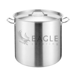 Comercial de Aço Inoxidável Stock Pot com tampa