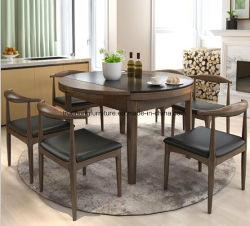 Fornitore di legno della mobilia dell'hotel del pranzo di legno solido della mobilia della sala da pranzo della mobilia dello spaccio di bevande di pranzo della Tabella dell'hotel della mobilia stabilita rotonda di lusso cinese del ristorante