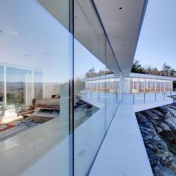 Extra/curva plana de pared de vidrio laminado templado para la casa