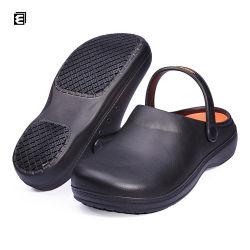シェフのための卸し売りゴム製台所サンダルのホテルのシェフの障害物の靴