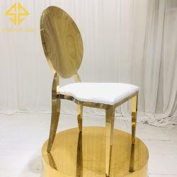En el mercado de muebles de exterior de acero inoxidable oro blanco de China de boda baratos sillas para la venta