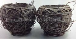 Handweave индивидуальные дома оформление плетеной Flowerpot в темно-коричневого цвета