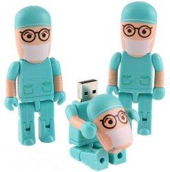Médico de dibujos animados de la unidad flash USB, lo mejor para la promoción (U181)