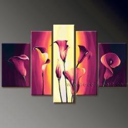 De moderne Kunst van het Canvas van het Olieverfschilderij van de Bloem Bloemen (FL5-012)