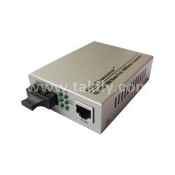 10/100/1000m Sc de modo único e o conversor de mídia Ethernet de fibra duplo