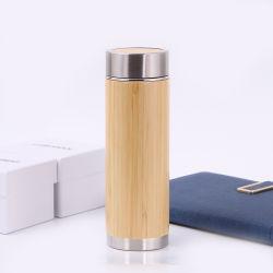 De nieuwe Chinese Klassieke Koppen van de Thee van de Gezondheid van de Flessen van het Water van de Mok van de Koffie van de Flessen van het Roestvrij staal van de Fles van de Thermosflessen van het Bamboe van de Sport van de Stijl Vacuüm
