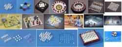 나무로 되는 체스 세트 Tic TAC 발가락 목판 게임 셧 잔 체스 세트 마시는 게임