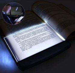 Linli 애서가 선물에 배터리 전원을 사용하는 편평판 LED 책 램프, 광도 밤 클립에 침대에서 읽기를 위한 조정가능한 책 빛