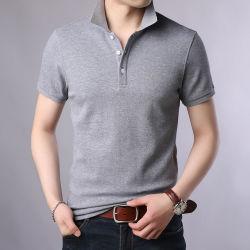 2021 Nuevas marcas de moda Camisa de polo de algodón 100% de los hombres verano Slim Fit camiseta de manga corta color sólido niños Polo Ropa de hombre casual