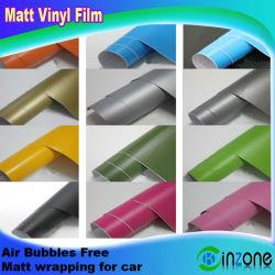 Матовая самоклеящаяся виниловая пленка автомобиля Wrap Наклейка пленки с помощью свободных каналов подачи воздуха