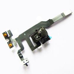 Schwarzer Kopfhöreraudiojack-Farbband-Datenträger-Energien-Flexkabel für iPhone 4S