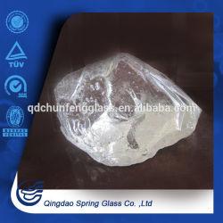أحجار زجاجية شفافة بيضاء تستخدم فى الديكور
