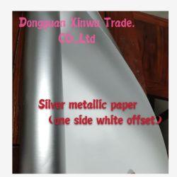 Resistenza all'acqua stampata in offset/di alluminio dell'animale domestico di bianco rivestito d'argento metallizzato pellicola del/documento di arte