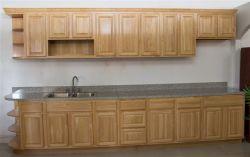 Armadio da cucina di legno di gomma solido