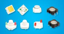 Wasserdichter elektronischer LED geleuchteter Schlüsseltakt-Schalthebel-Selbstmikrodruckknopf-Tasttastatur-Schalter