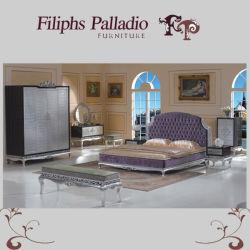 Muebles de estilo neoclásico de la Plata - Hoja de aluminio dorado Muebles de Dormitorio Tallada