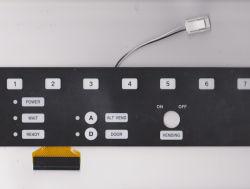 Personalizar à prova de alta confiabilidade em relevo o Interruptor de Membrana de máquina de Cola Flexível