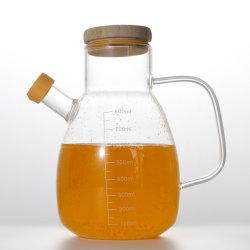 Vidro Heat-Resistant molho de soja Garrafa Garrafa de vinagre doméstico de cozinha grande de vidro borossilicato panela de óleo