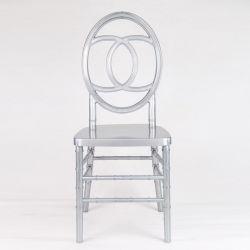 Commerce de gros acrylique couleur argent PC Chivari Pisces Bar chaises en plastique