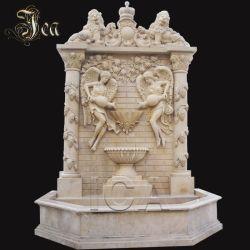 Fontein van de Muur van de Engel van de Travertijn van de decoratie de Hand Gesneden Marmeren