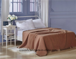 Couverture à haute densité de polyester de laines de cachemire d'hôtel de vente chaude