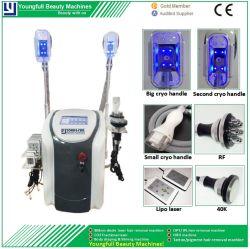 4 Griff Cryolipolysis Hochfrequenz-dünne Maschinen-nichtinvasives Karosserien-Umreißen und Ultraschallhohlraumbildung-Maschine Haut-Verjüngungs-Laser-Lipo