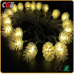 휴일 빛 20 LED 소나무 콘 결혼식 훈장 빛 LED 크리스마스 불빛 훈장 빛을%s 태양 끈 빛