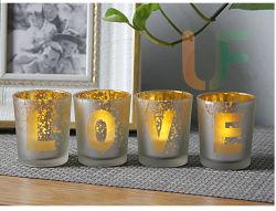 T - Цвет окрашены в серебристый стекло при свечах в различных моделей и размеров для украшения