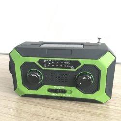Amazon Hot Sale étanche multifonction d'urgence d'alerte météo solaire Radio portable avec SOS Alarme/Lampe torche à LED