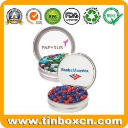 Het ronde Transparante Tin van het Suikergoed van het Venster voor de Banketbakkerij van de Suikers van de Snoepjes van de Verpakking
