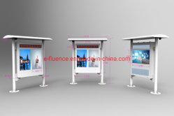 Deux écrans IP65 robuste lisible au soleil l'écran LCD pour la publicité