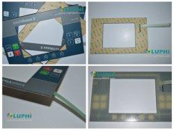 PMMAの両面機が付いているボタンによって浮彫りにされる膜スイッチ制御キーパッド