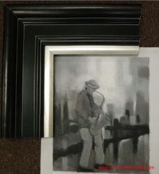Stevige Houten Zwarte die Houten Frame schilderen