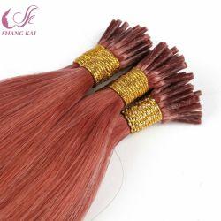 ほとんどの普及した様式の前担保付きのインドの人間の毛髪の拡張私は毛の拡張をひっくり返す
