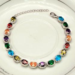 Мода украшения 925 серебряный браслет теннис браслет с создания драгоценных камней для женщин