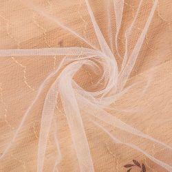 복장을%s 금 스레드 자카드 직물 순수한 직물이 100%Nylon에 의하여 뜨개질을 했다