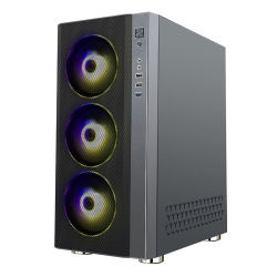 Boîtiers d'ordinateur PC de jeu en verre trempé le statut d'acier personnalisée OEM USB Windows Power Point de l'audio